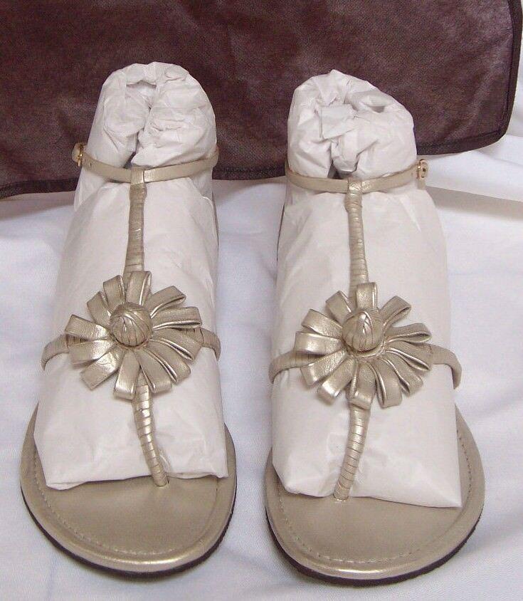 Cole Haan Dimensione 6  Sandals bianca oro Metallic Metallic Metallic New donna scarpe 1d0190
