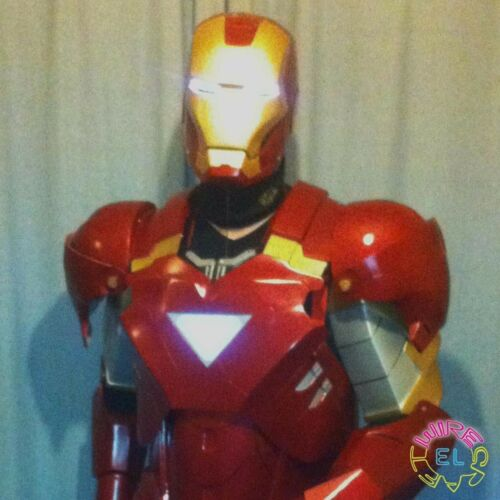 EL Iron Man Set (Mark 6) = El Tape Glowing Eyes + EL Panel Triangle + Driver