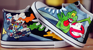a67c1b0382f Image is loading Custom-Hand-Painted-Ghostbusters-Converse-All-Stars-canvas-