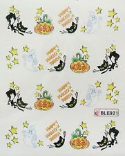Accessoire ongles : nail art- Stickers Halloween : citrouille, chat , fantome