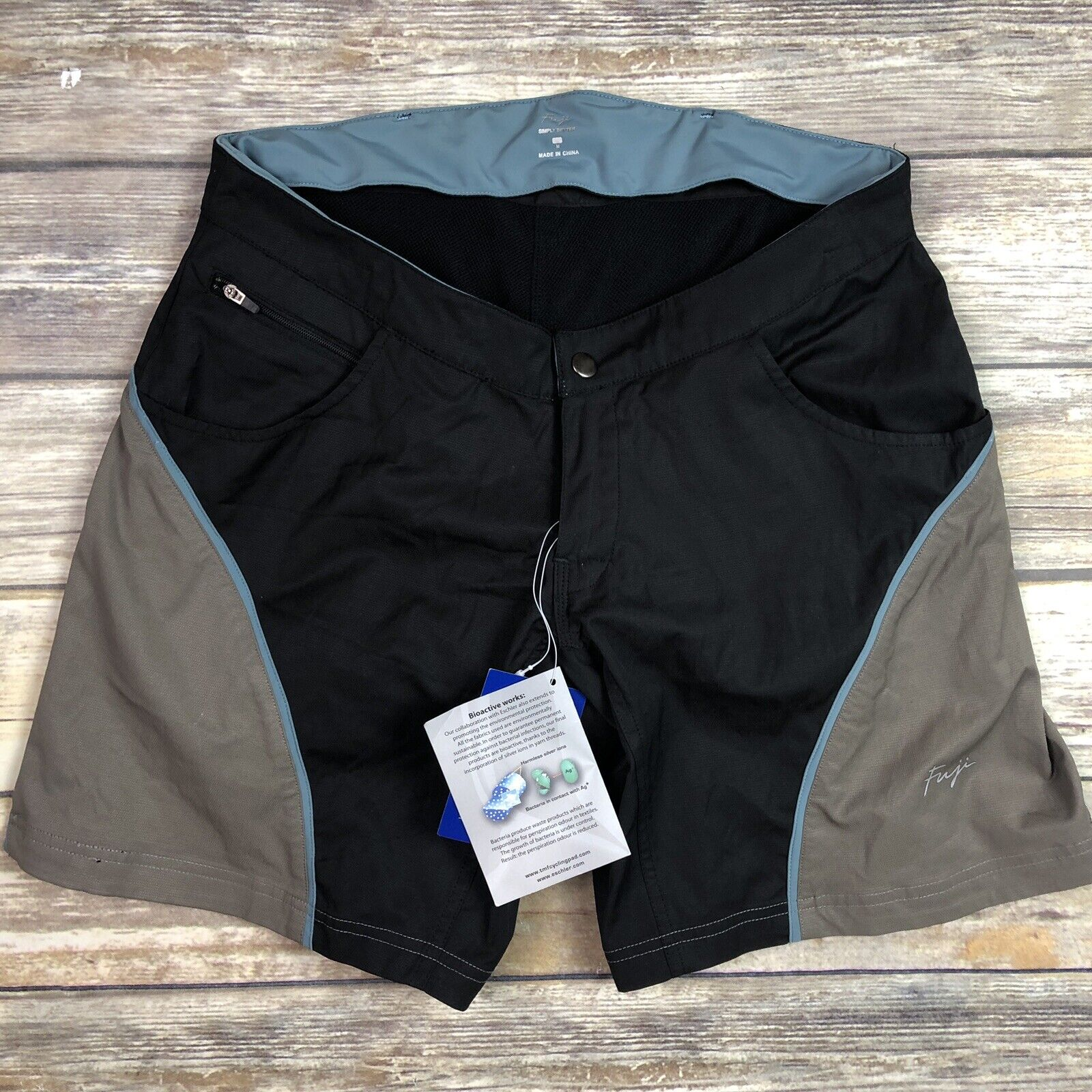 Fuji mejor  medio para mujer gris negro Simply Acolchado cyclingmountain Culotte  diseñador en linea