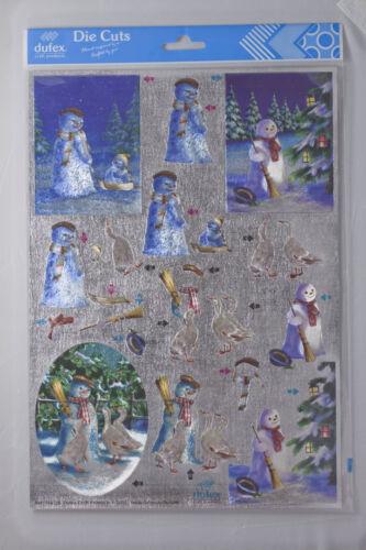 Dufex Die Cut Christmas Decoupage 248756 Snowmen