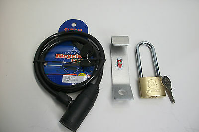 COMPLETE SECURITY MADE TO FIT RTIC 45 /& 65 COOLER LOCK /& CABLE BRACKET OVERBEND