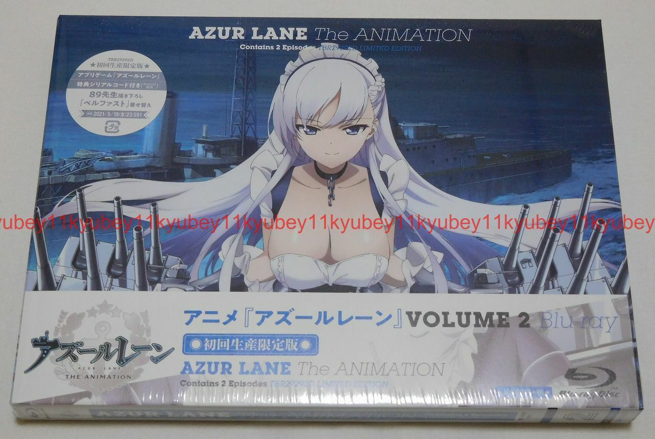 Azur Lane Vol.1 Vol.2 Vol.3 First Limited Edition Blu-ray Soundtrack CD Booklet