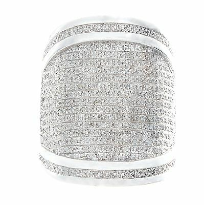 Men's 0.73ct Diamond Sterling Silver Ring.