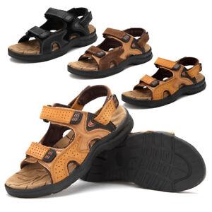 Men-Genuine-Leather-Casual-Hiking-Shoes-Sport-Sandals-Outdoor-Morden-Adjustable