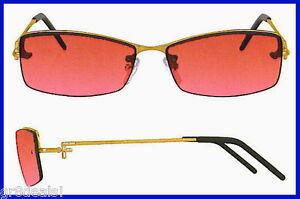 "FENDI Gradient Pink Salmon FS278 SUNGLASSES Gold Frames CRYSTAL ""F"" TEMPLES $195"