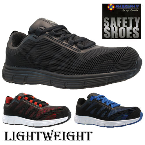 NEW MENS LADIES LIGHTWEIGHT STEEL TOE CAP SAFETY WORK TRAINERS SHOES BOOTS SIZE