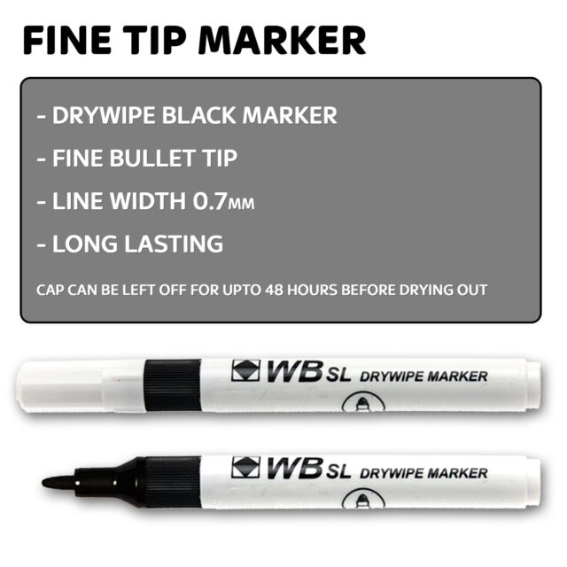 Set Of 4 Colors 4 Pieces White Board Marker Refillable Dry Wipe Bullet Tip Pens
