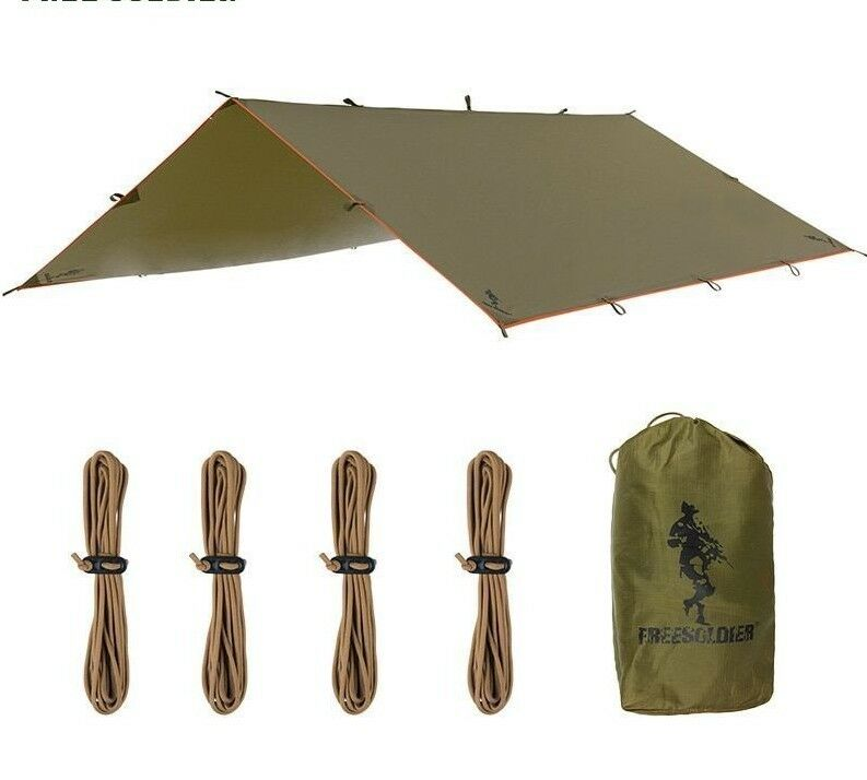 Portable Tent Sunshade Tarp For Camping Hiking Outdoor Activity Waterproof Style