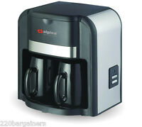 Alpina 220 Volt 2 Cup Coffee Maker 220v For Europe Asia Africa Voltage