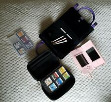 Nintendo DS Lite Pink System + 11 Games bundle lot with 2 cases