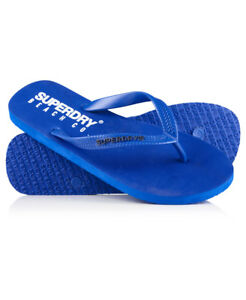 44814b5287ded Image is loading New-Mens-Superdry-Beach-Co-Flip-Flops-Royal