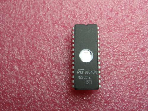 M27C512-15F1  EPROM 512K 150ns  DIP28  STM 64Kx8