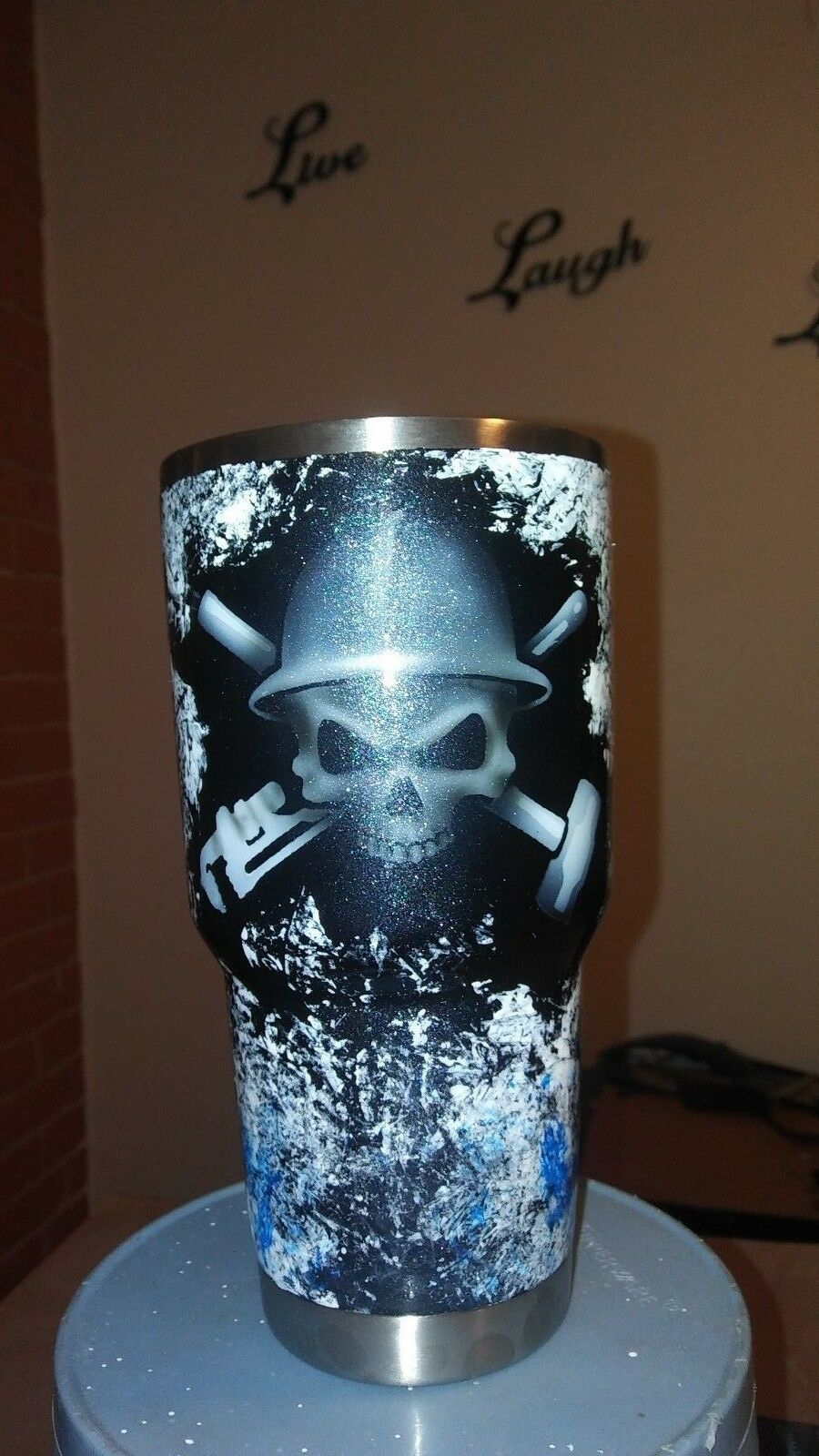 Custom painted Oilfield themed themed Oilfield Yeti cup 9284eb