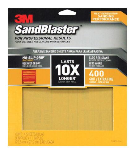 3M SandBlaster 11 in L x 9 in W 400 Grit Very Fine Ceramic Sandpaper