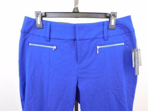 INC Petite Regular Fit Straight Leg Zippered Capri Pants 10P Goddess Blue #4645