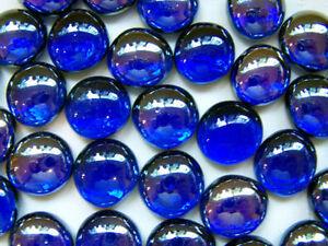Image Is Loading 100 Cobalt Blue Iridescent Gl Gems Mosaic Tiles