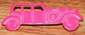 Red Vintage Metal Old Plain Car Approximately 2 Inches Hat Pin / Lapel / Brooch