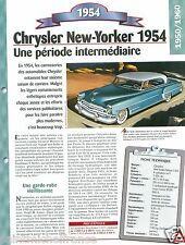 Chrysler New-Yorker Deluxe  Coupe Hard top V8 USA Car Auto Retro FICHE FRANCE