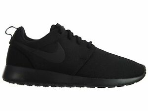 ed36aab93138 Nike Roshe One Womens 844994-001 Black Mesh Running Training Shoes ...