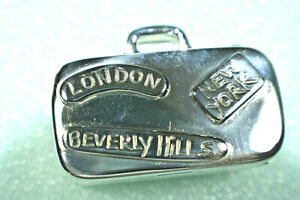 Tiffany-amp-Co-Luggage-Pill-Case-Sterling-Silver-w-Pouch-Rare-Vintage-Exc-Cond