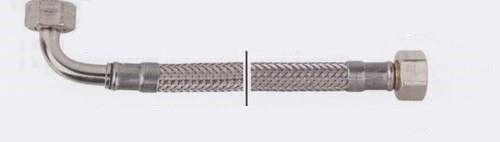"""Bogen 90° Verbindungsschlauch 1500mm 1//2/"""" Mutter x 1//2/"""" Mutter DN 8"""