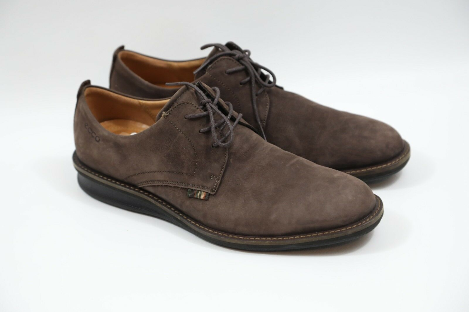 8245adf0c57 63 ECCO Brown Leather Size 43 Oxfords nogtgo142-Men's Casual - bota ...