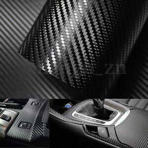 127x30cm-5D-Fibre-Carbone-Film-Vinyle-Autocollant-Sticker-Adhesif-Voiture-Auto