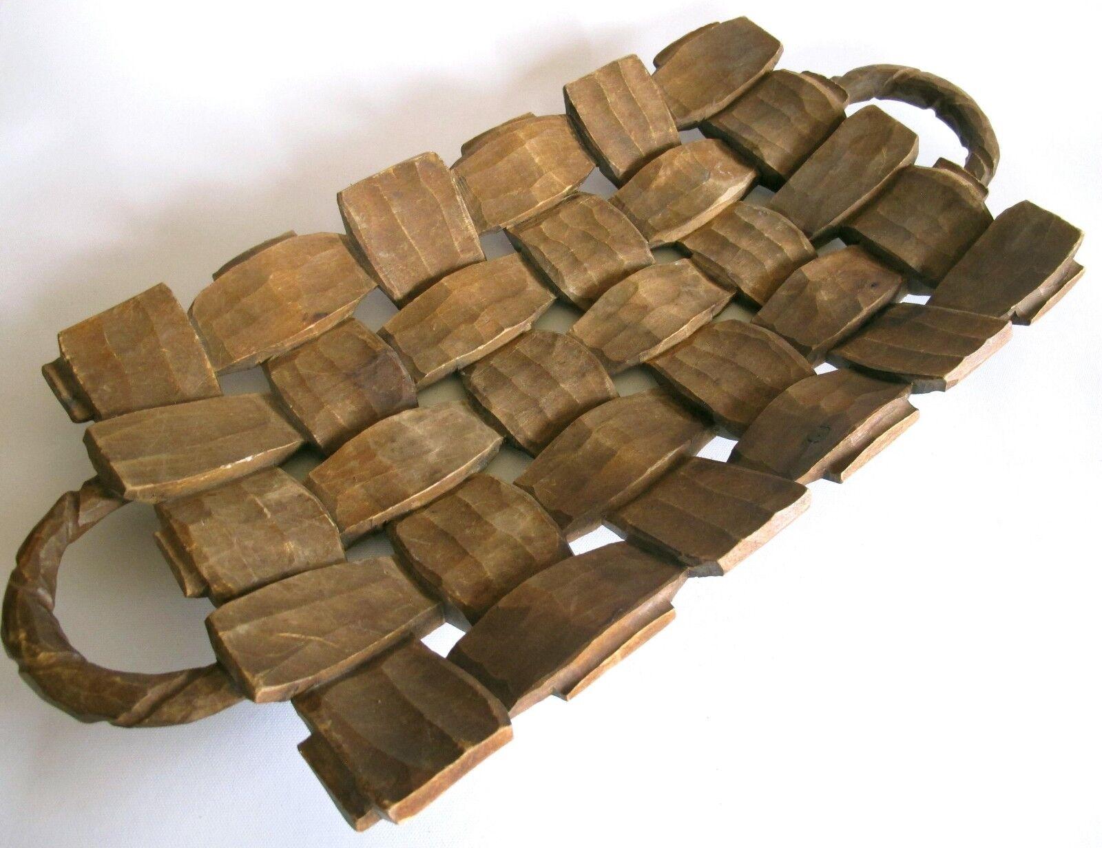 EDLE Holzschale aus Tropenholz Sehr schöne Musterung 44 cm lang