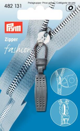 Prym Fashion-Zipper Reißverschluß Zipper Matrix schwarz gebürstet  482131