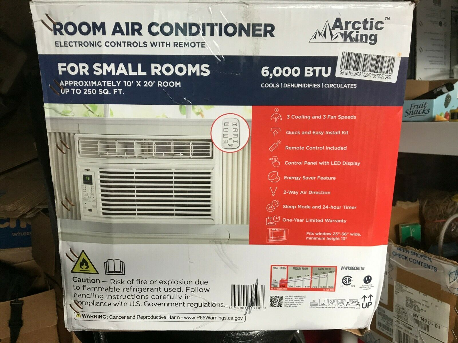 Arctic King Wwk 06cr5 6 000 Btu Remote Control Cool Window Air Conditioner White For Sale Online Ebay