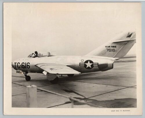 1950's RUSSIAN CAPTURED MIG 15 Vintage US AIR FORCE Photo