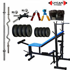20 KGS + 8 in 1 bench weight lifting home gym fitness package