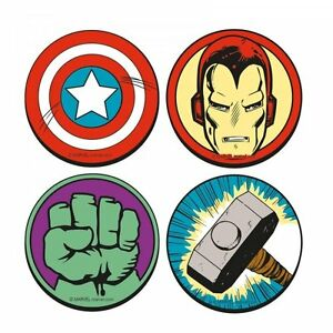 Marvel AVENGERS LOGO Round Drink COASTERS Captain America ...
