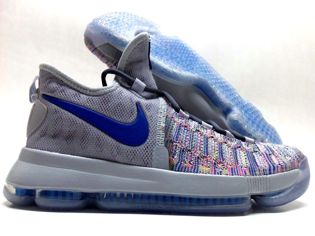 NIKE KD 9 IX ID KEVIN DURANT MULTI-COLOR/COOL GREY-ROYAL SZ WOMEN 9 [883980-985]