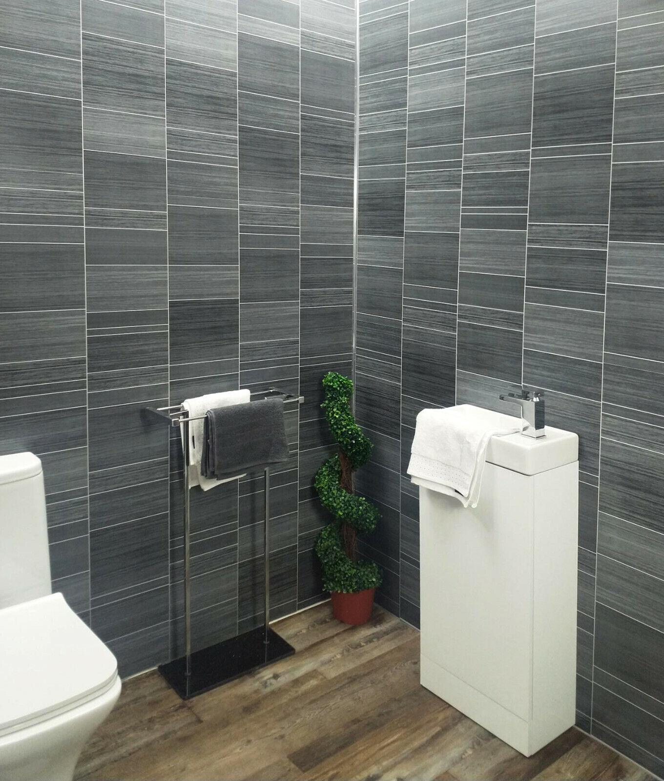 gloss 8mm shower wall panels pvc bathroom cladding sparkle