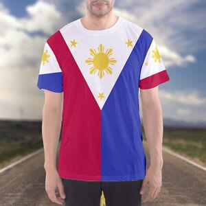 f0f7d661 NEW Philippines Filipino Flag Map Sports Men's T-shirt Tee Standard ...