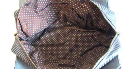 Chala Handbag Bowling Zip Tote Large Bag Indigo Blue Vegan Leather gift Rooster