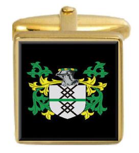 Mckinsley Schottland Familie Wappen Familienname Gold Manschettenknöpfe Graviert
