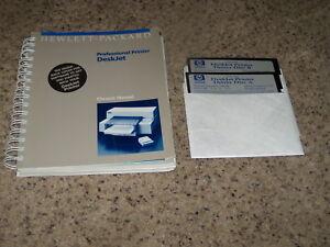Hewlett-Packard-Professional-Printer-Deskjet-5-25-Floppy-disks-with-manual