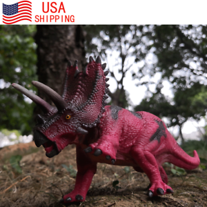 Pentaceratops Toy Figure Realistic Dinosaur Model Christmas Gift For Boy Kids
