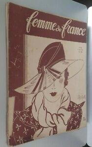 Rivista per Lettera Donna Di Francia 4 Giugno 1933 N° 943 ABE
