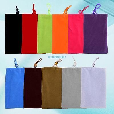 Universal Soft Velvet Cloth Sleeve Case Pouch Cell Phone Bag