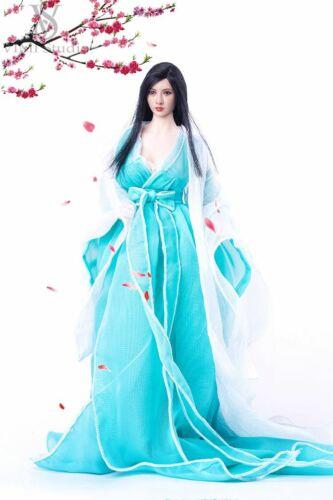 "VIMI 1//6 Ancient Wedding Dress Costume Long Skirt Clothing Fit 12/"" Female Doll"