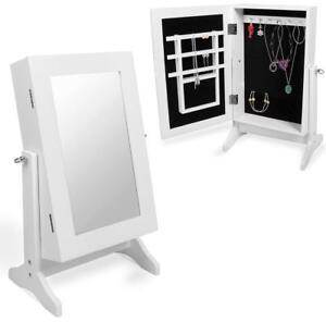schmuckschrank spiegel schmuckkasten schmuckschr nkchen schmuckk stchen wei ebay. Black Bedroom Furniture Sets. Home Design Ideas