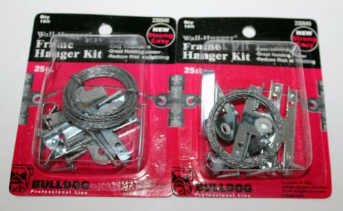 Set of 2 Picture Hanging Kit 25 lbs Wall Hugger Frame Hanger Kit by Bulldog