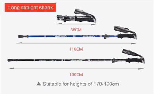 Anti Shock Nordic Walking Sticks Telescopic Cane Travel Poles Hiking Trekking UK