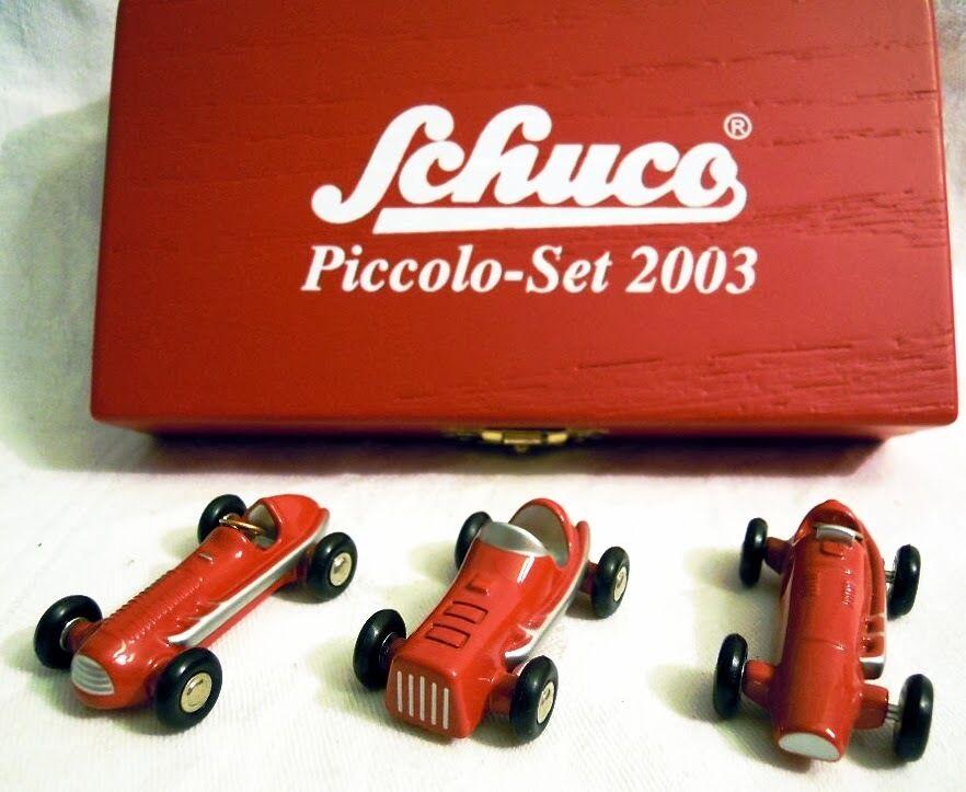 Schuco PICCOLO-Set 05214: Auto da Corsa-Set di 2003, disponibilità limitata, n e u & o V P