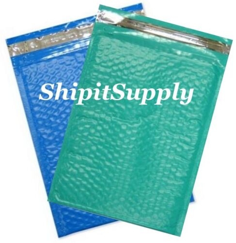 2-500 #0 6x10 Poly Color Bubble Padded Mailers Fast Shipping Teal /& Blue